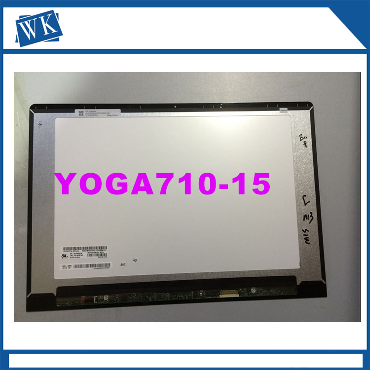 Free shipping 15 inch LED LCD Touch Screen Replacements For Lenovo Yoga 710 15 Yoga710-15 Assembly N156HCA-EA1 LP156WFA 2017 new smart home black crystal glass panel 1 circuit us plug light touch and remote control screen switch with led indicator