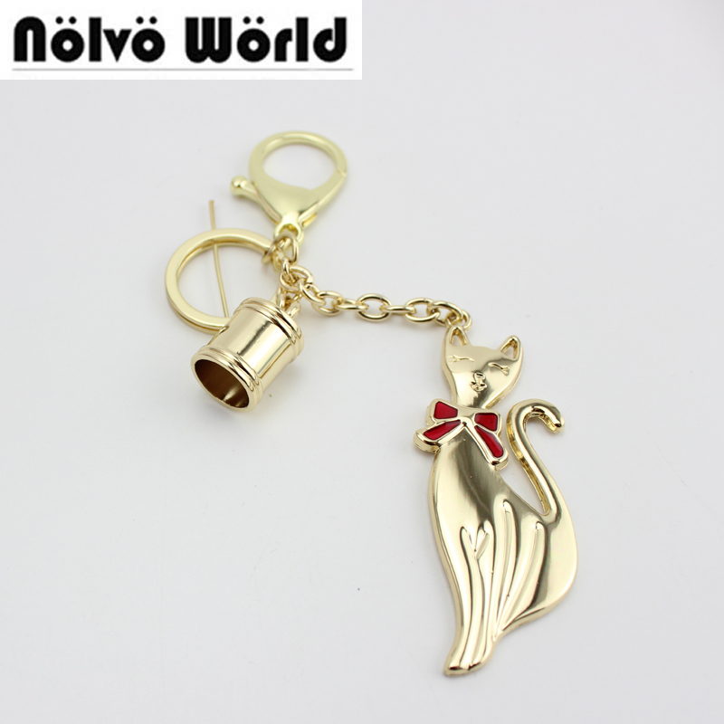 Popular Keychain Fashion Zinc Hangtag for Fashion Bags Handbag Decorative Hanger Tag,Lovely Fox Pendant Bag Charm Hanger Tag