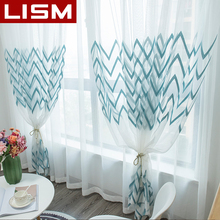 LISM Withe Sheer Curtains for the Bedroom Living Room The Kitchen Tulle Striped Voile Window Drapes Decor Sale