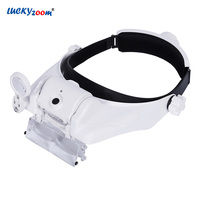 Headband 5X 8X USB Charging Magnifying Glass LED Illuminated Adjustable Magnifier Jewelry Loupe Soldering Reading Repair Lupa