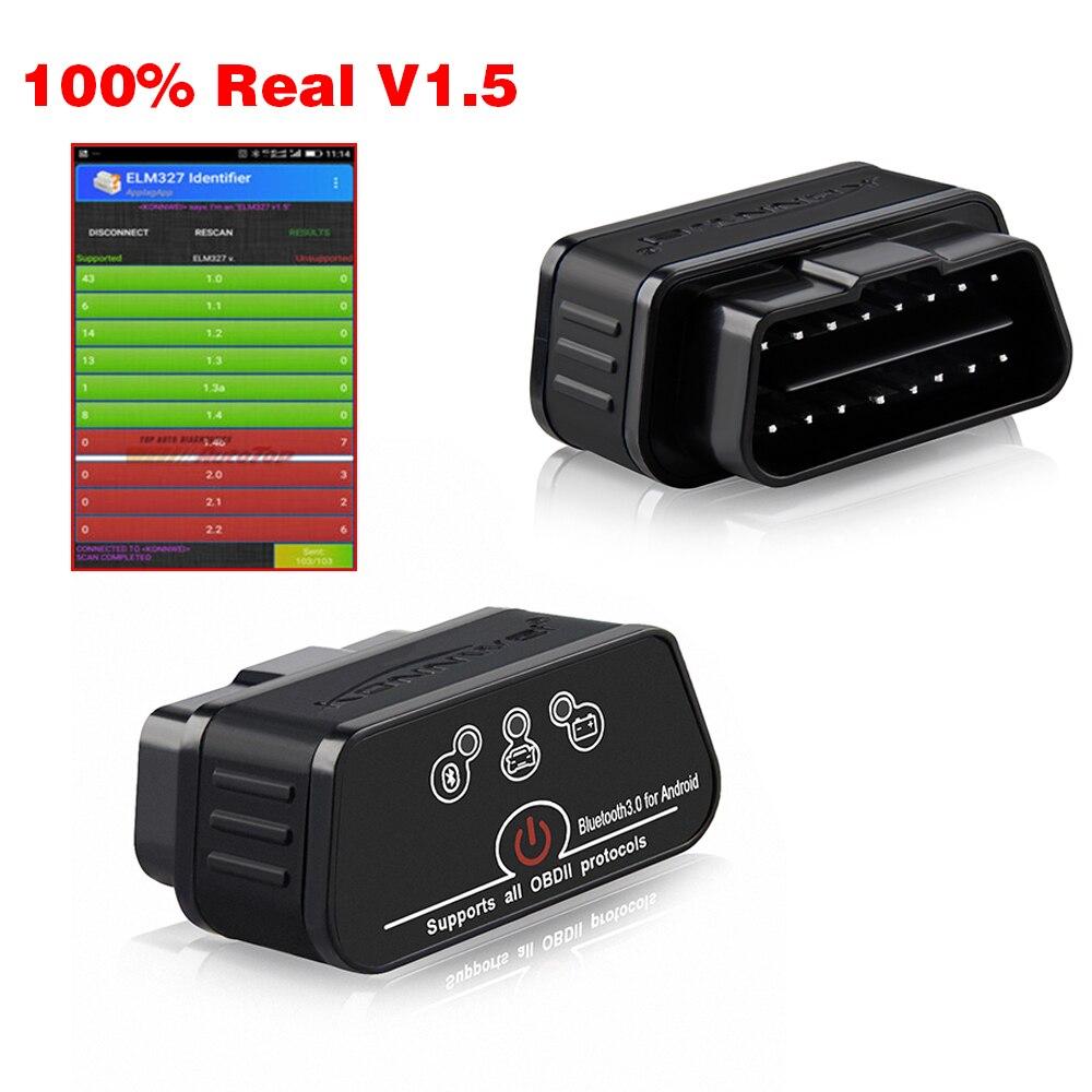 ELM327 OBD2 сканер Авто сканер ICar2 KONNWEI Bluetooth ELM 327 в 1,5 автомобильный диагностический инструмент EML327 OBD 2 сканер eml327 v1.5