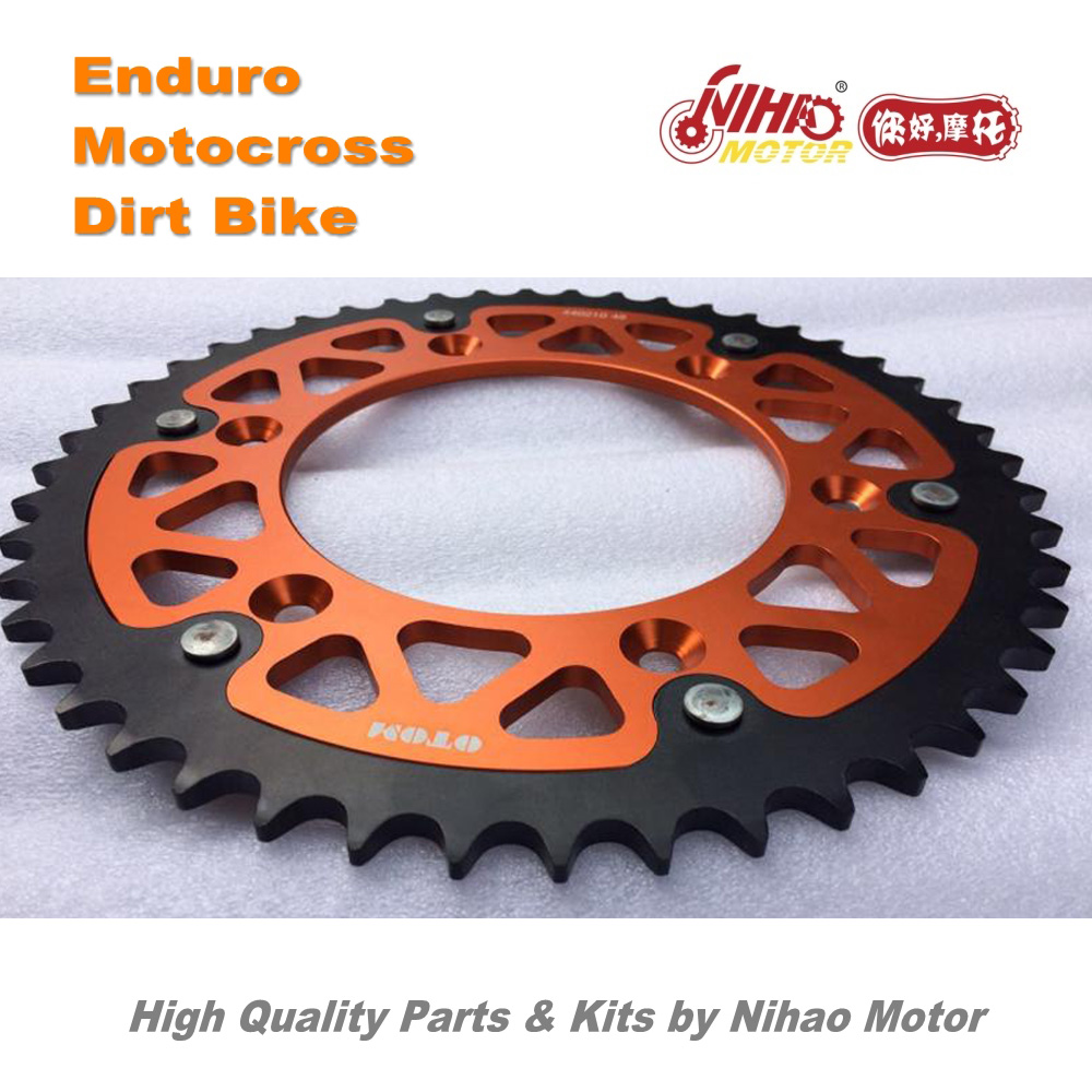 85 Motocross Parts <font><b>48T</b></font> Rear <font><b>Sprocket</b></font> alloy cover steel CRF250 T4 T6 K6 KAYO for HONDA Enduro Kit Dirt bike spare cross image