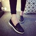 Casual Zapatos Planos de La Mujer 2017 Primavera Sólido Mocasines Slip On pisos de Moda Punta Redonda Zapatos de Las Mujeres 3 Colores Tamaño 35-40 F039