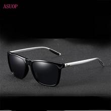 New polarized men's sunglasses UV400 coated glasses square e