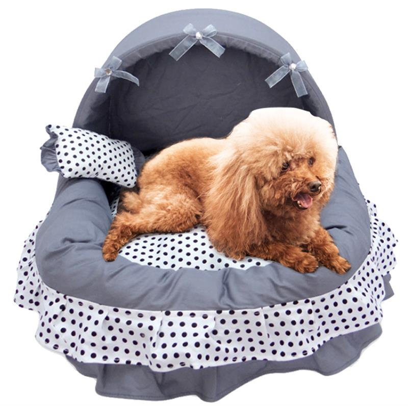 Pet Products Cat Beds & Mats Lace Princess Pet Dog Bed House Crate Cat Bed Cage Basket Puppy House Dream Nest Pet Kennel Sofa Dog Nest Soft Pet Supplies