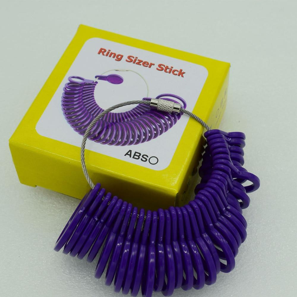 105a14ce8f7caf Vinger Ring Size Gauge Meten Vinger Maten meet bereik 1 33mm Plastic Tool  Sieraden Ring Maat in Vinger Ring Size Gauge Meten Vinger Maten meet bereik  1-33mm ...
