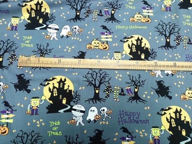 new pure cotton fabrics cloth plain for patchwork halloween prints cartoon diy kid clothes material coat - Halloween Prints