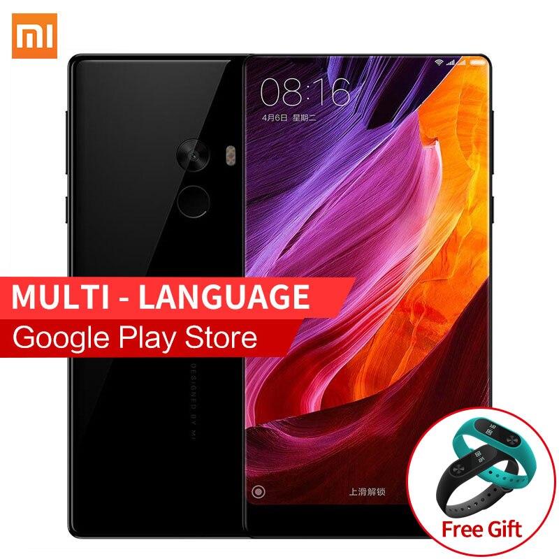 """Цена за Бесплатная MIband2 Подарок! gb ram 128 ГБ rom xiaomi mi mix 6.4 ''4400 мАч snapdragon 821 6.4"""" полный экран 2040x1080 p смартфонов"""