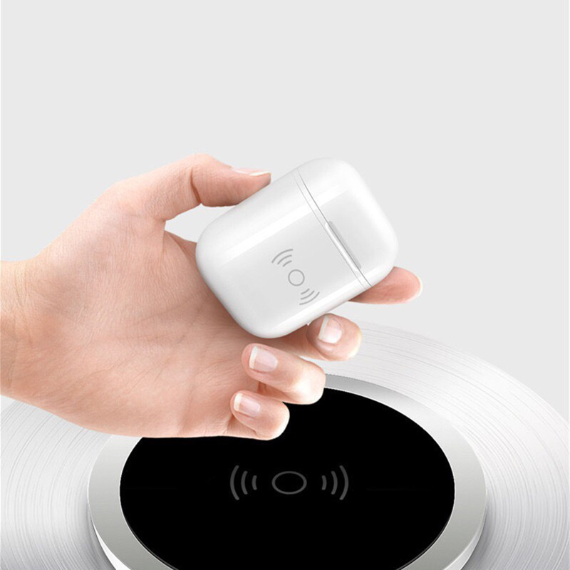 Suntaiho Wireless Charger case for Apple airpods Wireless Bluetooth Headset Wireless Receiver Compatible Charging for airpods