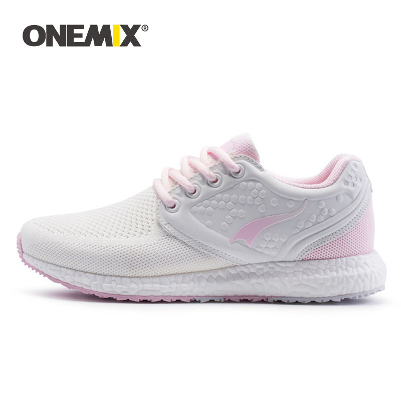 Onemix running shoes for women sneakers women breathable cool mesh space PU outdoor lighting for sports