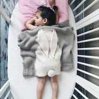Maglia Del Bambino Del Bambino Biancheria Da Letto Involucro Morbido Coperta Del Bambino Appena Nato Cartoon Bunny P20 Coperta Per Coniglio Fatto A Mano Da Bagno Per Bambini Regalo