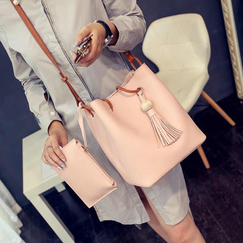Tonny Kizz panelled couro crossbody sacos de ombro das mulheres sacos do mensageiro 2pcs lady bolsas para meninas de alta qualidade da moda 2019
