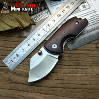 LCM66 Folding Knife D2 Blade Yellow Pear Survival Knives Very Sharp Mini Rescue Pocket Knife Gift