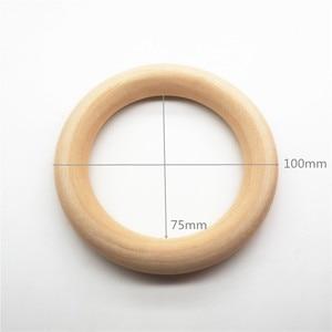Image 3 - Chenkai 10 pçs cm 4 nature nature natureza mordedor de madeira anel diy infantil dentição anel bebê chupeta mastigar jóias brinquedo 100mm 4 polegada