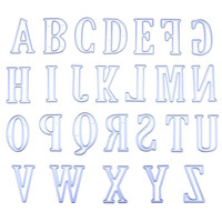5CM Large Alphabet 26 Letters Cutting Dies Stencils Metal Mold For DIY Scrapbooking Big Capital Letter