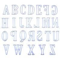 5CM Large Alphabet 26 Letters Cutting Dies Stencils Metal Mold For DIY Scrapbooking Big Capital Letter