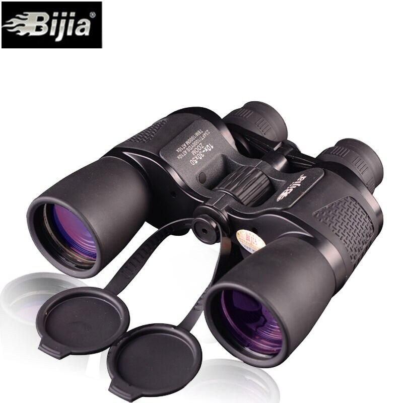 Bijia 10 30x50 Binoculars HD High Power Waterproof Zoom Binoculo Telescope for Hunting Tourism Opera glasses fernglas teleskop