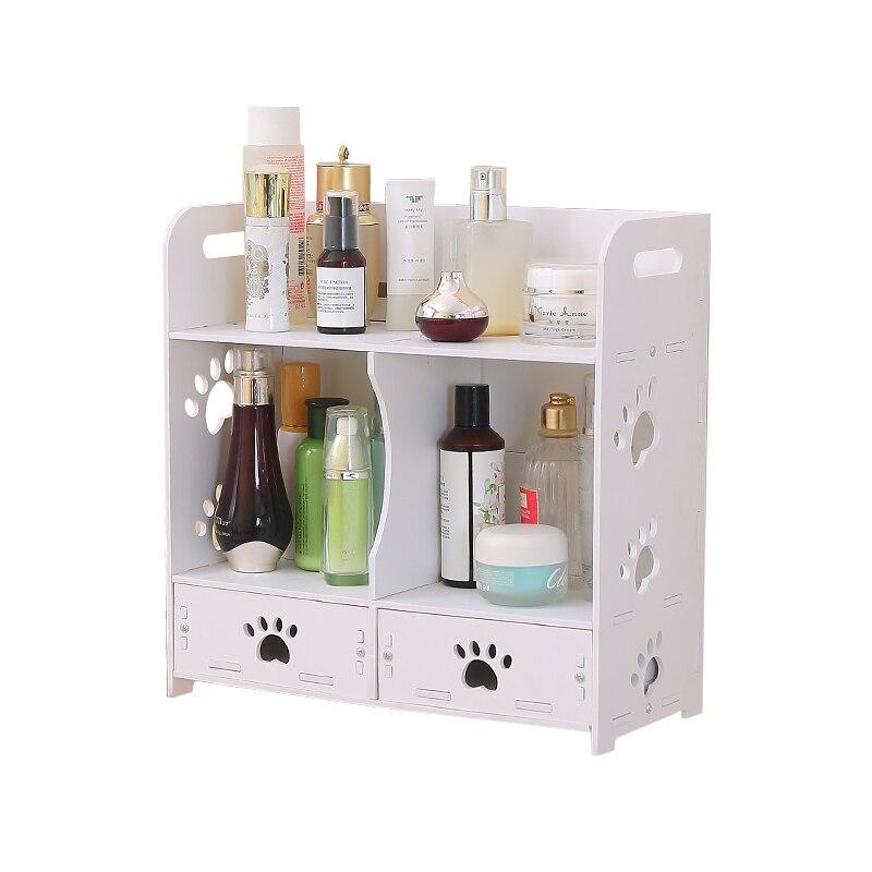 Полка для ванной комнаты настенный туалет Пробивной настенный косметический унитаз ящик для хранения LO523523 - 3