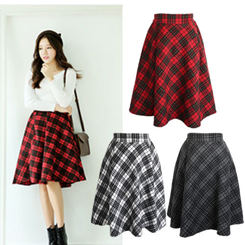 Vintage Women Woolen Skirt New Fashion 2015 Summer Casual Pleated ...