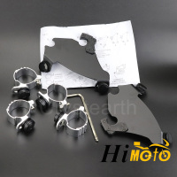 Motorcycle 35 41mm Fork Bracket Gauntlet Headlight Fairing Trigger Lock Mount Kit For 1988 later Harley Sportster 1200 883 XL