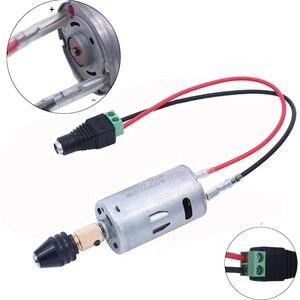 Image 2 - Universele 3 12V 1A Multi Elektrische Boor Set Mini Dc Motor 0.5 3.5 Mm M8 Boorkop twist Boren Eu/Us Power Supply Adapter