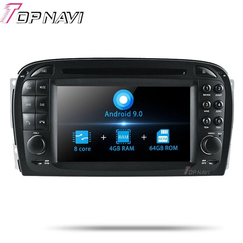 TOPNAVI Android 9.0 Octa Núcleo Reprodutor multimídia Carro DVD Para Benz SL R230 (2001 2002 2003 2004.6) autoradio GPS de Navegação de Áudio
