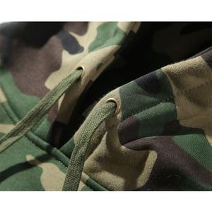 Image 4 - Армейский зеленый Камуфляжный свитер с капюшоном, зимний мужской Камуфляжный флисовый пуловер, толстовка с капюшоном в стиле хип хоп, хлопковая уличная одежда, 2019