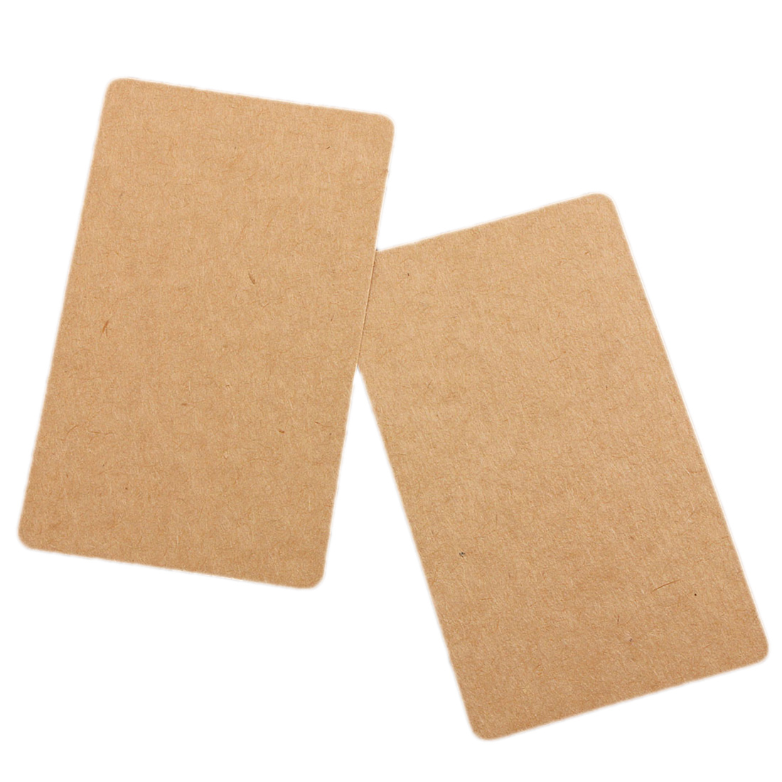 100 Brown Kraft Label Paper Tag Blank Luggage Card Party Wedding Hang Gift Favor