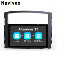 Navivox 9'' 2 din Android 7.1.1 Car GPS Navigation Stereo Video Player For Mitsubishi Pajero RAM2G+ROM32G wifi Bluetooth Radio