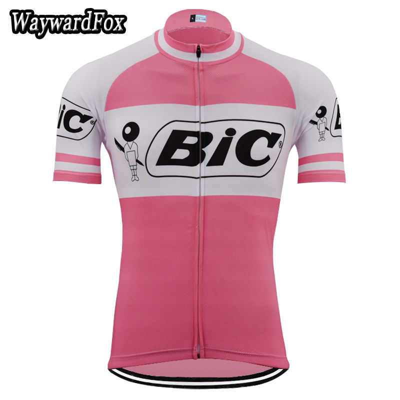NEW Summer man pink jerseys Vintage cycling jerseys Short Top cycling  clothing bike wear ropa ciclismo c65877e3d