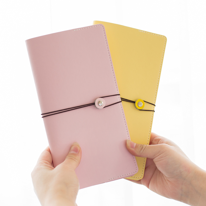 Cute faux dəri səyyahının notebooku Macaron 4 rəngli Gündəlik - Qeyd kitabçaları - Fotoqrafiya 2
