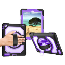 Miesherk Case for iPad 2/3/4 Kids Safe Shockproof Armor Soft Silicone Cover Leather Hand Strap with 360 Rotation Stand Protector miesherk case for air 2 kids safe with hand shoulder strap and stand shockproof full protective cover for ipad 9 7 inch coque