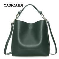 New Large Capacity Women Bag Fashion Pu Leather Shoulder Bag Casual Tote Bag Designer Female Bucket