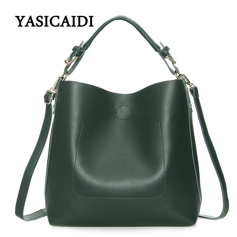 New Large Capacity Women Bag  Fashion Pu Leather Shoulder Bag Casual Tote Bag Designer Female Bucket Handbags Composite Bag new playeagle waterpoof pu leather golf boston bag golf clothing bag large capacity travel bag with shoes pocket oem logo