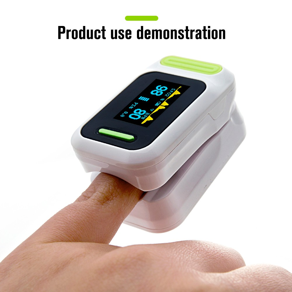 Fingertip pulse oximeter OLED Screen spo2/PR monitor Blood Oxygen with free carrying case