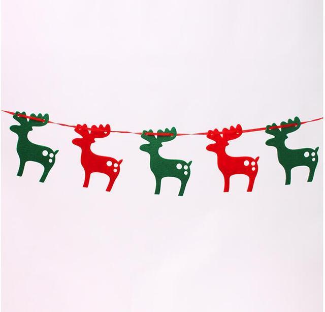 22 Metro Arboles Navidad Banner Guirnalda Navidad Alces Bunting - Guirnalda-navidad