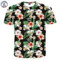 Mr.1991INC Mais Recente Moda T-shirt Dos Homens/Mulheres 3d camiseta Imprimir Folhas Verdes E Flores Bonitas Camiseta Verão Tops Tees 3XL 4XL