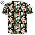 Mr.1991INC Newest Fashion T-shirt Men/Women 3d T shirt Print Green Leaves And Beautiful Flowers Tshirt Summer Tops Tees 3XL 4XL