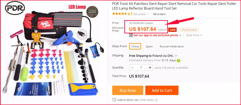 ᗛpdr Tools Car Repair Tool Set Car Body Repair Kit Dent Removal