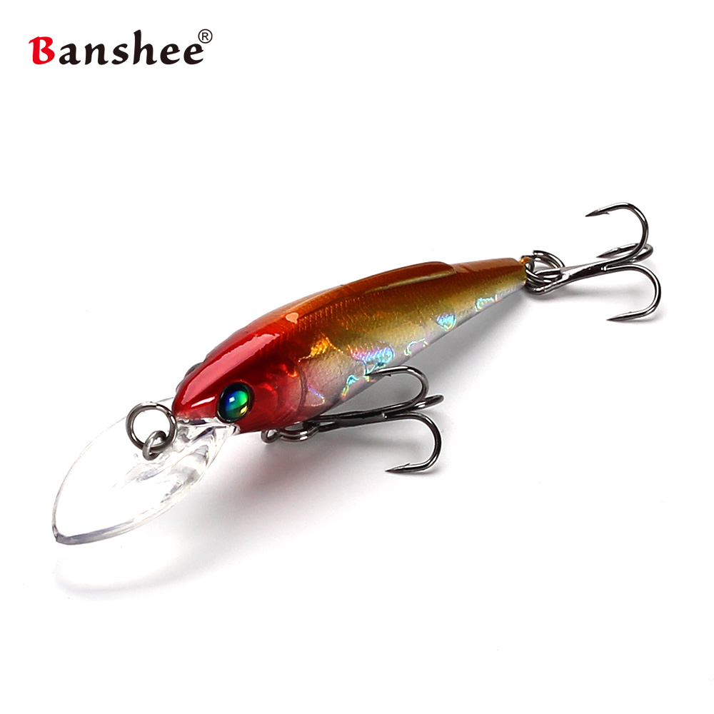 2.75/'/' Fishing Lures Minnow Crankbaits Sinking Hooks Tackle Rattles 7cm 3.7g