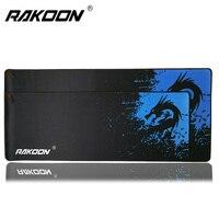Rakoon 30x80 см 40x90 см большой игровой коврик для мыши синий замок дракона край настольные компьютерные коврики для мыши Коврик для CSGO Dot 2 коврик д...