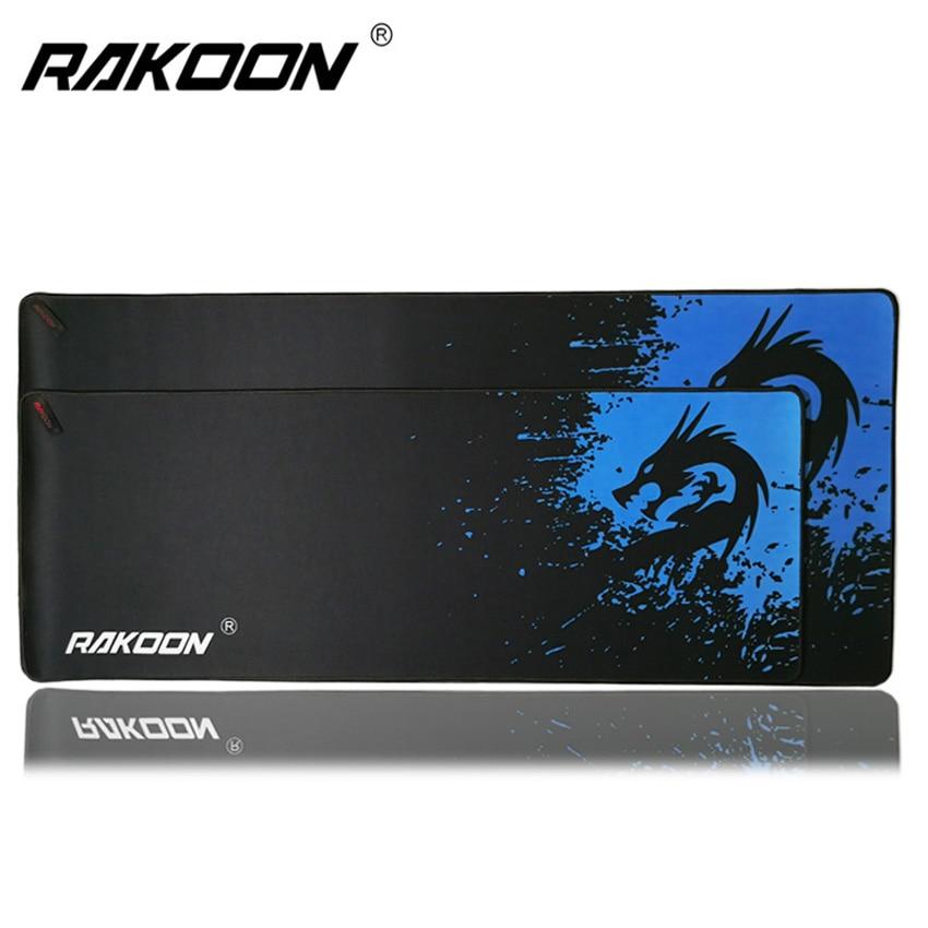 Rakoon 30x80 cm 40x90 cm Große Gaming Mouse Pad Blau Drachen Schloss Rand Desktop Computer Mousepads matte für CSGO Dot 2 Lol Gamer