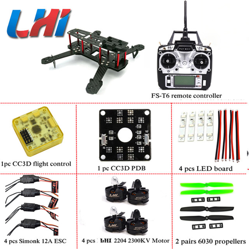DIY LHI Senior ZMR250 QAV250 Quadcopter Frame Motor quadrocopter dron qav zmr KIT drone CC3D Flight Control 250 frame carbon fiber diy mini drone 220mm quadcopter frame for qav r 220 f3 flight controller lhi dx2205 2300kv motor