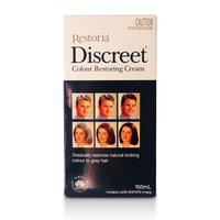 100% Australia made Restoria Discreet Colour Restoring Cream/ Lotion, Hair Care150ml, Reduce Grey Hair Suitable for Men &Women