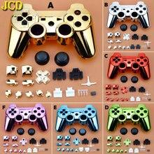 JCD para Sony Playstation 3 PS3 controlador galvanizado mango carcasa/funda/cubierta carcasa con marco interior manga larga con botones accesorios Kit