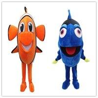 2017 Nemo Clown Fish Maskotki Dorosły Kostium Popularne Postaci z Kreskówek Anime Cosplay Kostium Karnawał Fancy Dress Szkoły