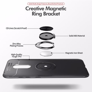 Image 3 - Étui antichoc pour Pocophone F1 étui anneau de doigt aimant mat housse en Silicone pour Xiaomi PocoPhone F1 étui pocophon Poco F1