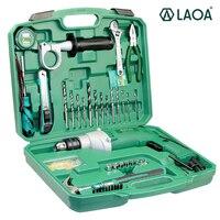LAOA электрические инструменты 810 Вт Бытовой Универсальный электрический ударный набор сверл с гаечным ключом плоскогубцы розетка молоток о