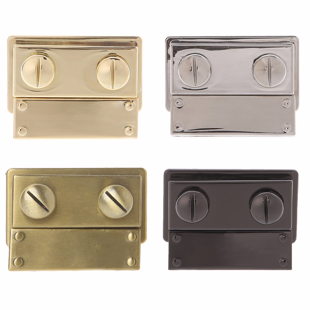 THINKTHENDO Making Metal Push Lock Briefcase Square Lock Hardware Accessories For Women Bag Hangbag