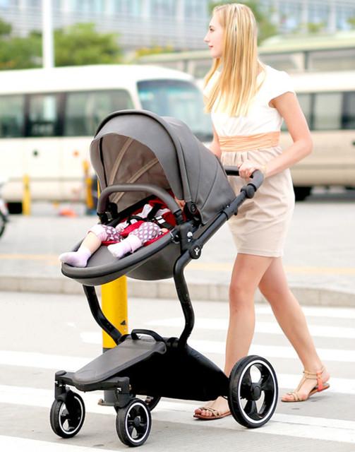 Carrinho de bebê two-way alta paisagem pode sentar pode estar dormindo cesta carrinho de criança